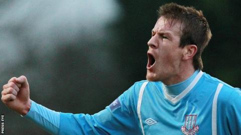 Ballymena United skipper Allan Jenkins