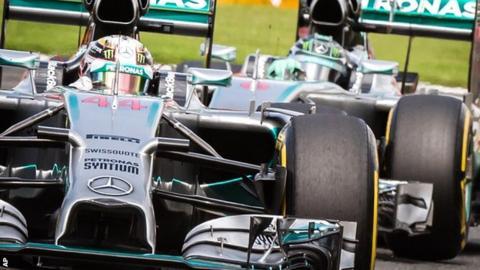 Lewis Hamilton (left) and Nico Rosberg
