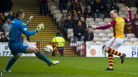 James McFadden scoring for Motherwell
