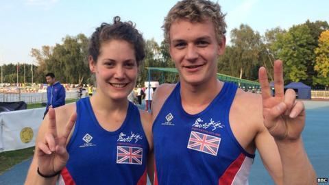 Kate French and Joe Evans - Modern Pentathlons