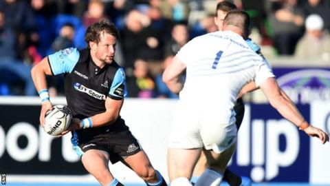 Glasgow Warriors fly-half Peter Horne in action against Leinster