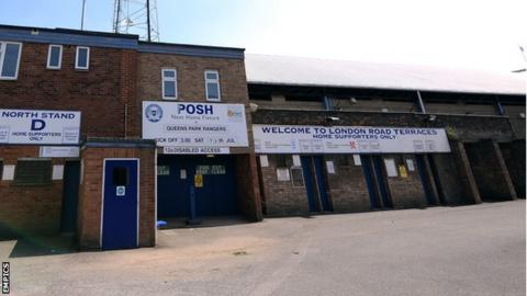 Peterborough United's London Road End