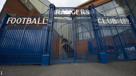 The gates at Rangers' Ibrox stadium