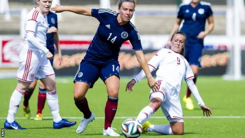 Rachel Corsie in action for Scotland
