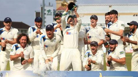 Yorkshire celebrate title win