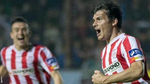 Philip Lowry scored Derry's late equaliser in the cup game at Drogheda