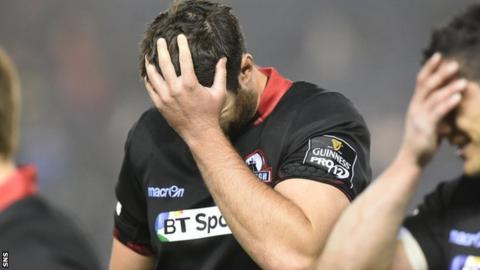 Edinburgh's Fraser McKenzie is dejected after defeat