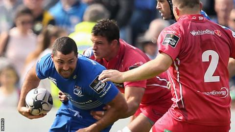Rob Kearney produced several threatening bursts for Leinster