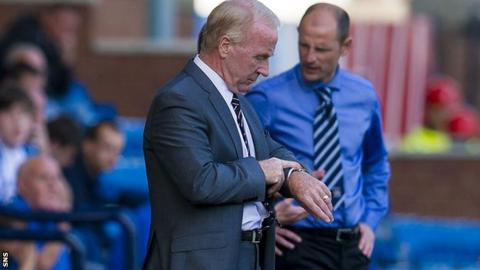 St Mirren manager Tommy Craig and Kilmarnock boss Allan Johnston, right