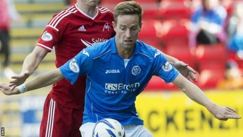 St Johnstone striker Steven MacLean