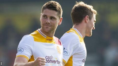 Motherwell midfielder Iain Vigurs