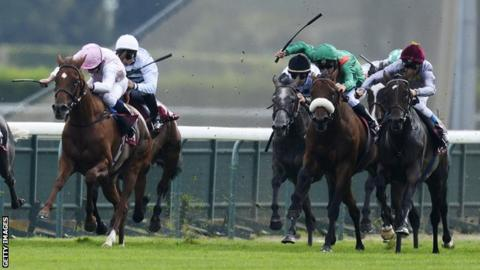 Treve (far right) is run out of contention