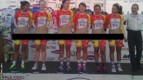 The Colombian cycling team