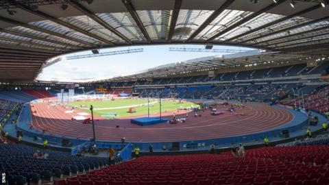 Hampden was transformed into an athletics arena for summer 2014.