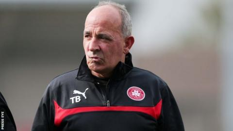 Cliftonville manager Tommy Breslin