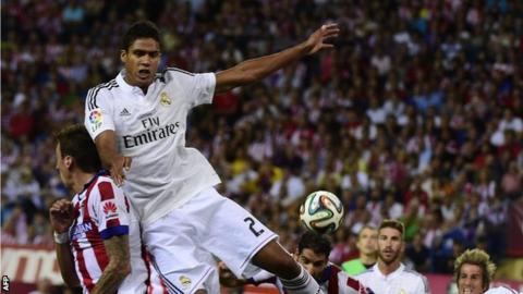 Real Madrid defender Raphael Varane