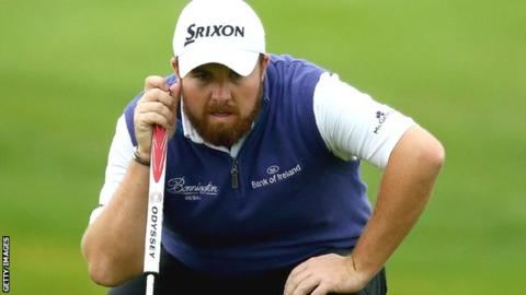 Shane Lowry on his way to a second round score of 65