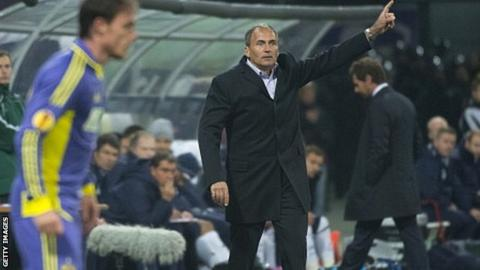 Darko Milanic on the touchline