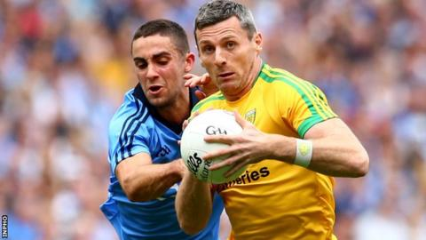 Dublin's James McCarthy tackles Christy Toye in last month's semi-final