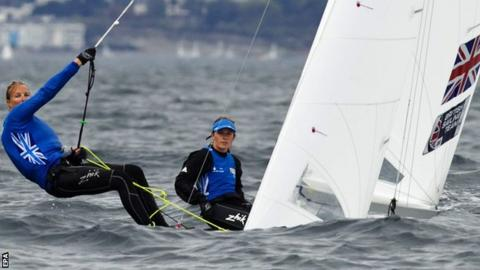 British sailors Hannah Mills (R) and Saskia Clark (L) can now look forward to contesting the 470 class in Rio