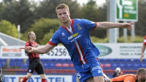 Marley Watkins opened the scoring for Inverness CT