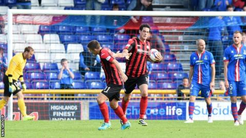 Brian Graham scored for St Johnstone in their 2-1 loss at Inverness CT