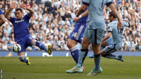 Frank Lampard scores against his former club