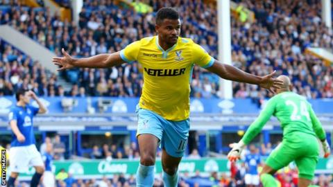 Fraizer Campbell celebrates scoring for Crystal Palace