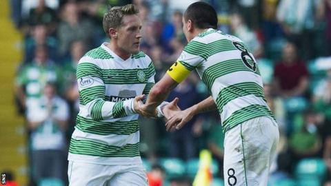 Kris Commons and Scott Brown came off the bench at half-time to inspire Celtic.