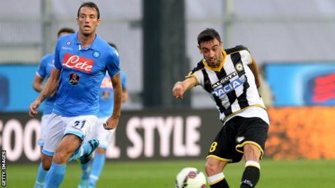 Udinese defender Bruno Fernandes Borges