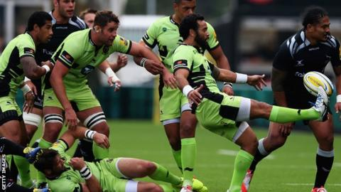 Northampton Saints against Newcastle Falcons