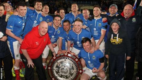 Linfield won the County Antrim Shield in March