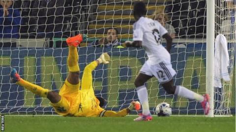 Swansea midfielder Nathan Dyer