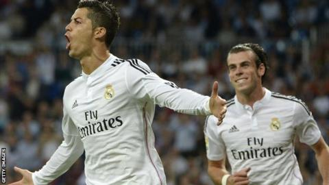 Real Madrid forward Cristiano Ronaldo scored four goals against Elche
