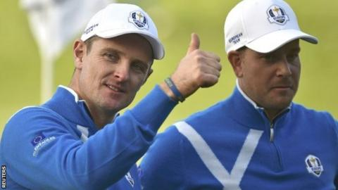 Justin Rose and Henrik Stenson at the Ryder Cup