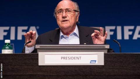 Fifa president Sepp Blatter rejects calls for a report into alleged World Cup bidding corruption to be made public