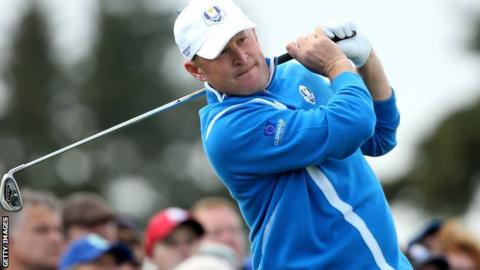 Jamie Donaldson at the Ryder Cup