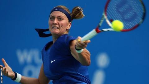 Petra Kvitova at the Wuhan Open