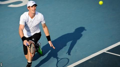 Andy Murray at the Shenzhen Open