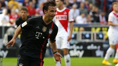 Bayern Munich's Mario Gotze
