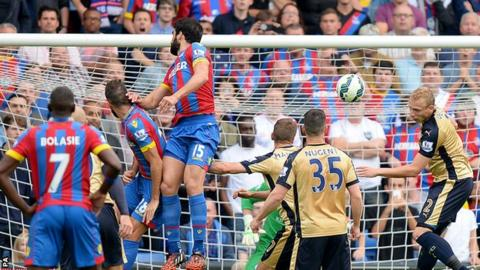 Mile Jedinak heads in for Crystal Palace