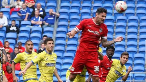 Sean Morrison heads in his first goal for Cardiff City