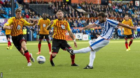Alexei Eremenko in action for Kilmarnock against Partick Thistle