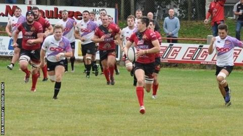 Redruth RFC in their loss to Clifton