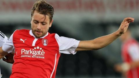 Rotherham United player Kari Arnason