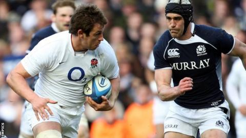 Louis Deacon in England Six Nations action action against Scotland in 2010