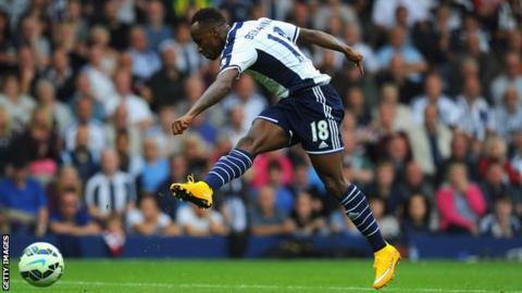 West Bromwich Albion forward Saido Berahino