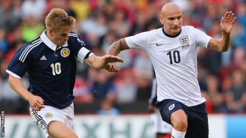 Jonjo Shelvey captained England under-21s against Scotland