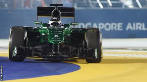 Caterham Marcus Ericsson Singapore Grand Prix