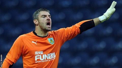 Burnley goalkeeper Matt Gilks